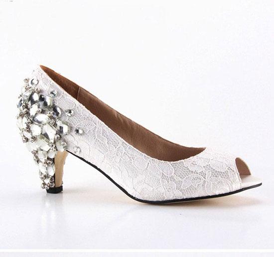 095293119e7b0 Chaussures De Mariée Sans Talon